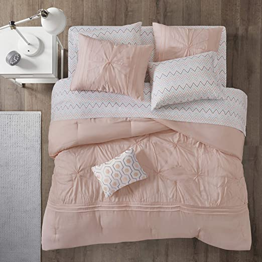 Intelligent Design Toren Embroidered Comforter and Sheet Set
