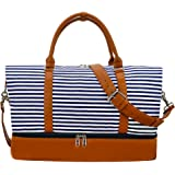 Weekender Bag Carry on Overnight Duffel for Women, Camtop Carrying Weedkend Travel Bags for Ladies, Large Canvas& PU…