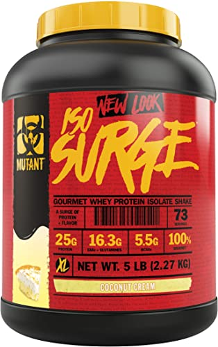 Mutant ISO Surge Whey Protein Powder Acts Fast to Help Recover, Build Muscle, Bulk and Strength, Uses Only High Quality Ingredients, 5 lb – Coconut Cream