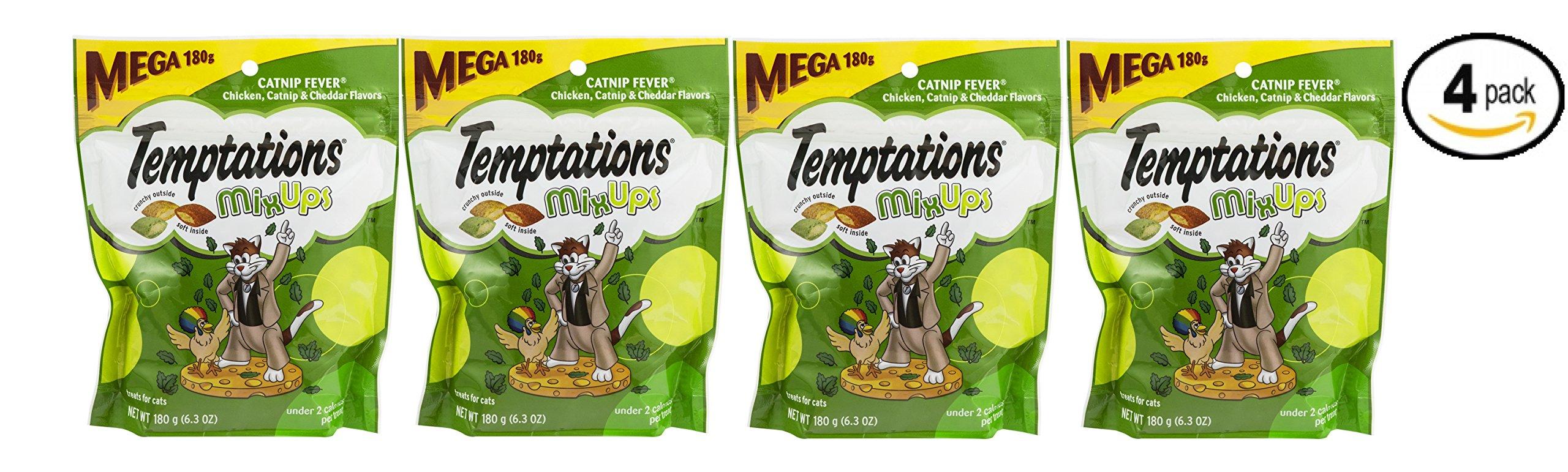 Temptations Mixups Catnip Fever Flavor Cat Treats, 6.3 Oz - Pack of 4
