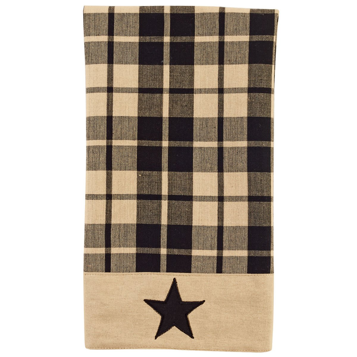 Black Farmhouse Star Towel
