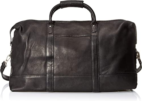 Royce Leather Luxury Duffel Bag Luggage Handcrafted in Colombian Leather, Black, One Size