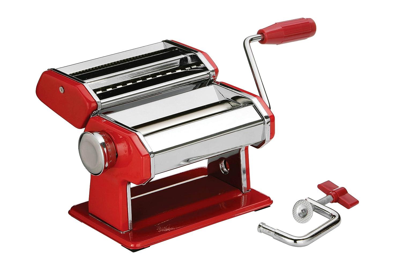 Premier Housewares 5018705670294 Macchina per la Pasta, Corpo in Acciaio Rosso Cromato Premiere Housewares 2560002 2560002_Red