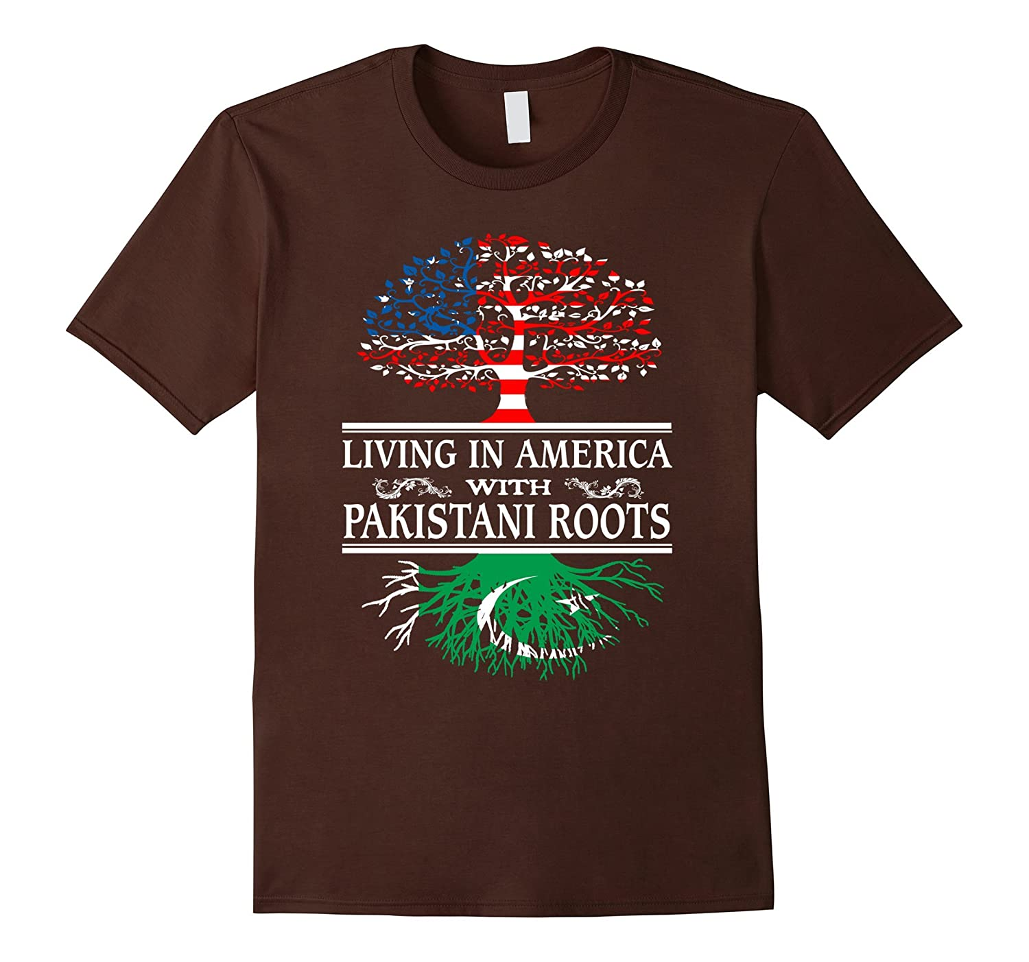 Living In America Pakistani Roots - Pakistan Flag Shirt-TH