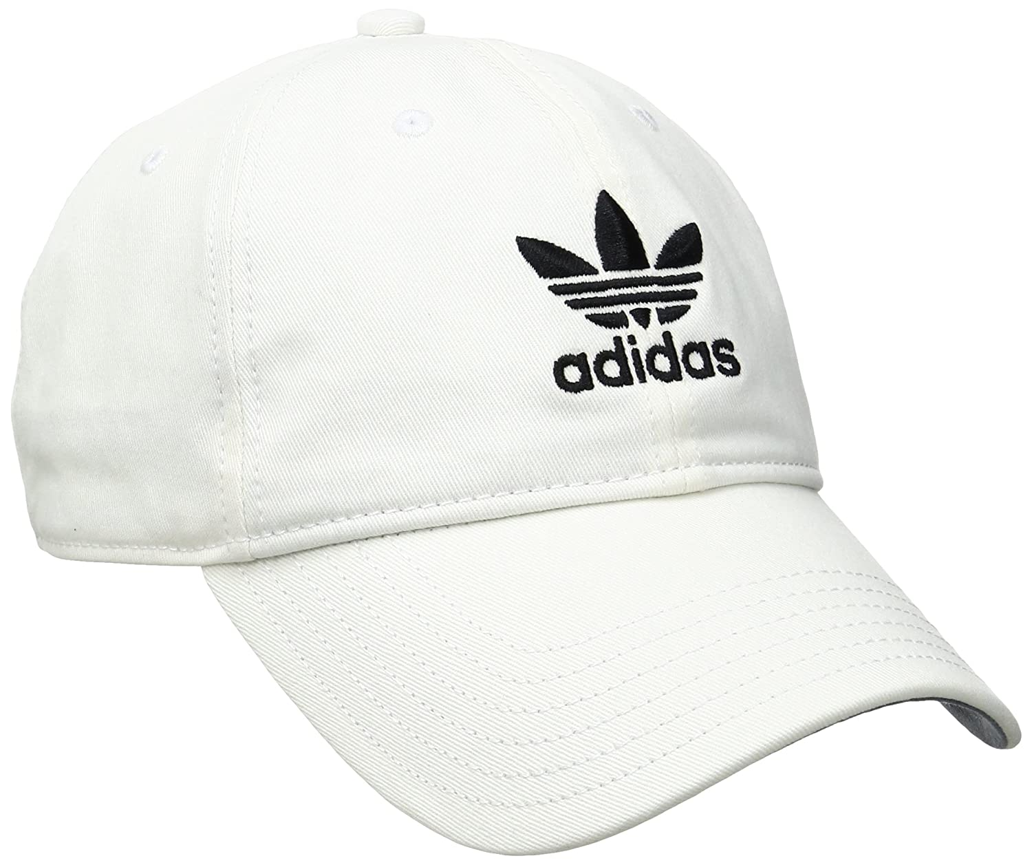 Amazon.com: adidas Mens Originals Relaxed Strapback Cap, White/Black, One Size: Sports & Outdoors