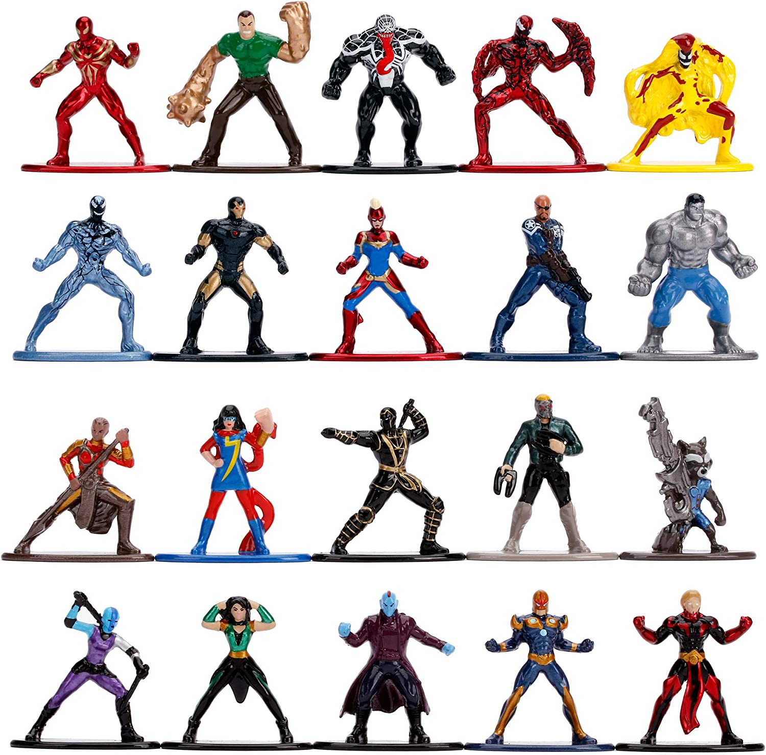 Jada Toys 253225010 Wave 3 Marvel 20-Pack Nano Collectable Figures, Wave 3, 20 Pieces/Set 36% OFF £19.99 @ Amazon