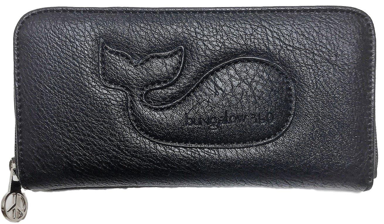 Bungalow360 Original Vegan Leather Zip-Around Wallet (Licorice)