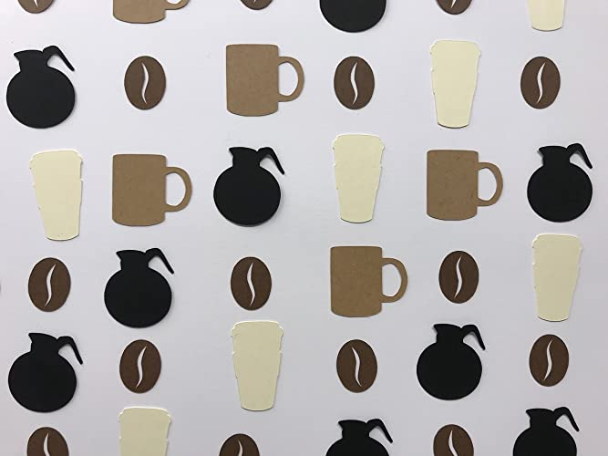 coffee confetti coffee party decorations coffee birthday party coffee lovers party decor