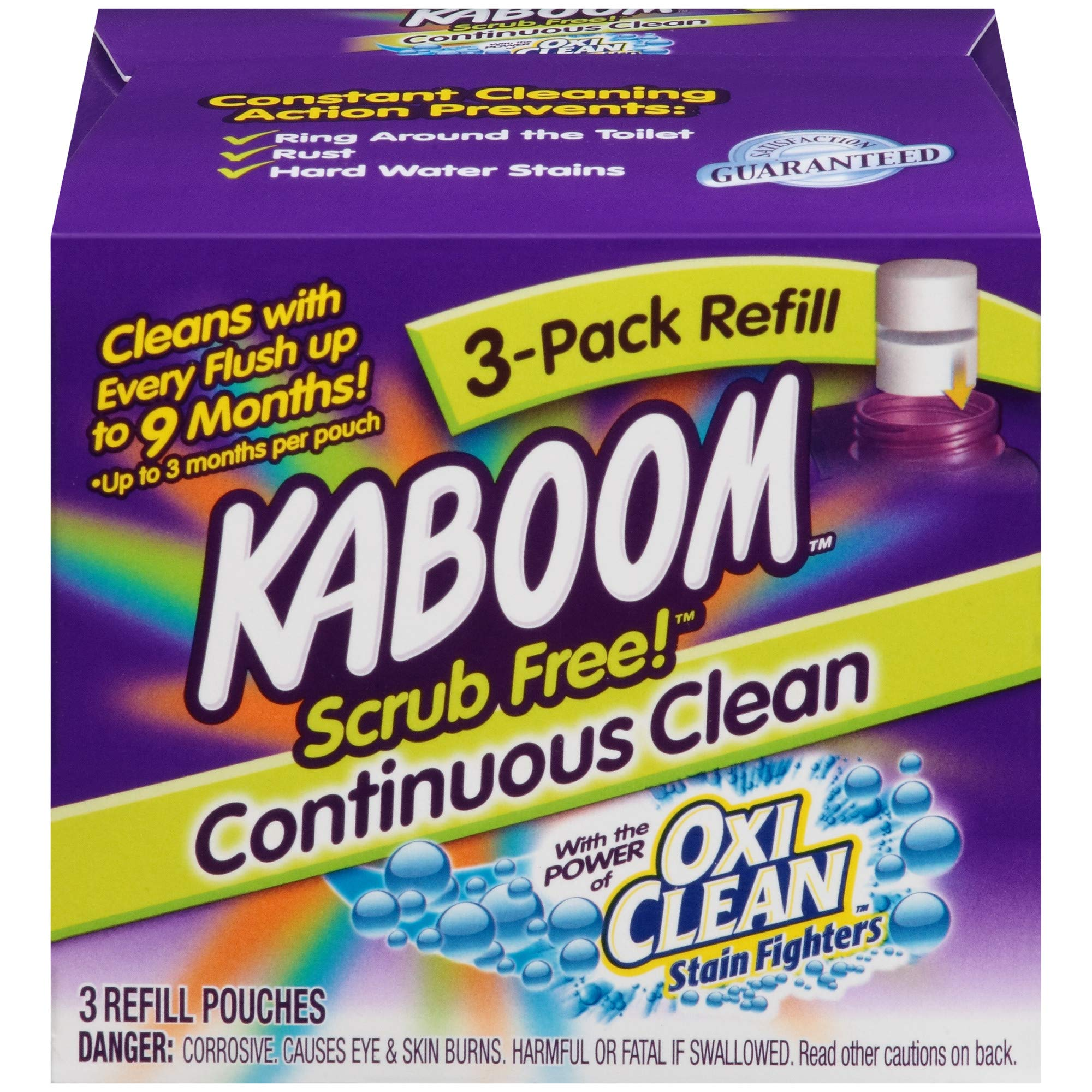 Kaboom Scrub Free! Continuous Clean with OxiClean 3-Pack Refill by Kaboom