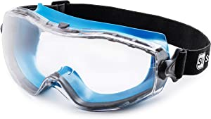 SolidWork Safety Goggles with universal fit, Safety Glasses with Clear, Fog-Free, Anti Scratch and UV Protection Coated Lenses, Spectacles for Eye Protection