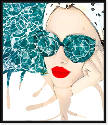 The Oliver Gal Artist Co. Fashion and Glam Framed Wall Art Canvas Prints 'MariPily' Portraits Home D cor