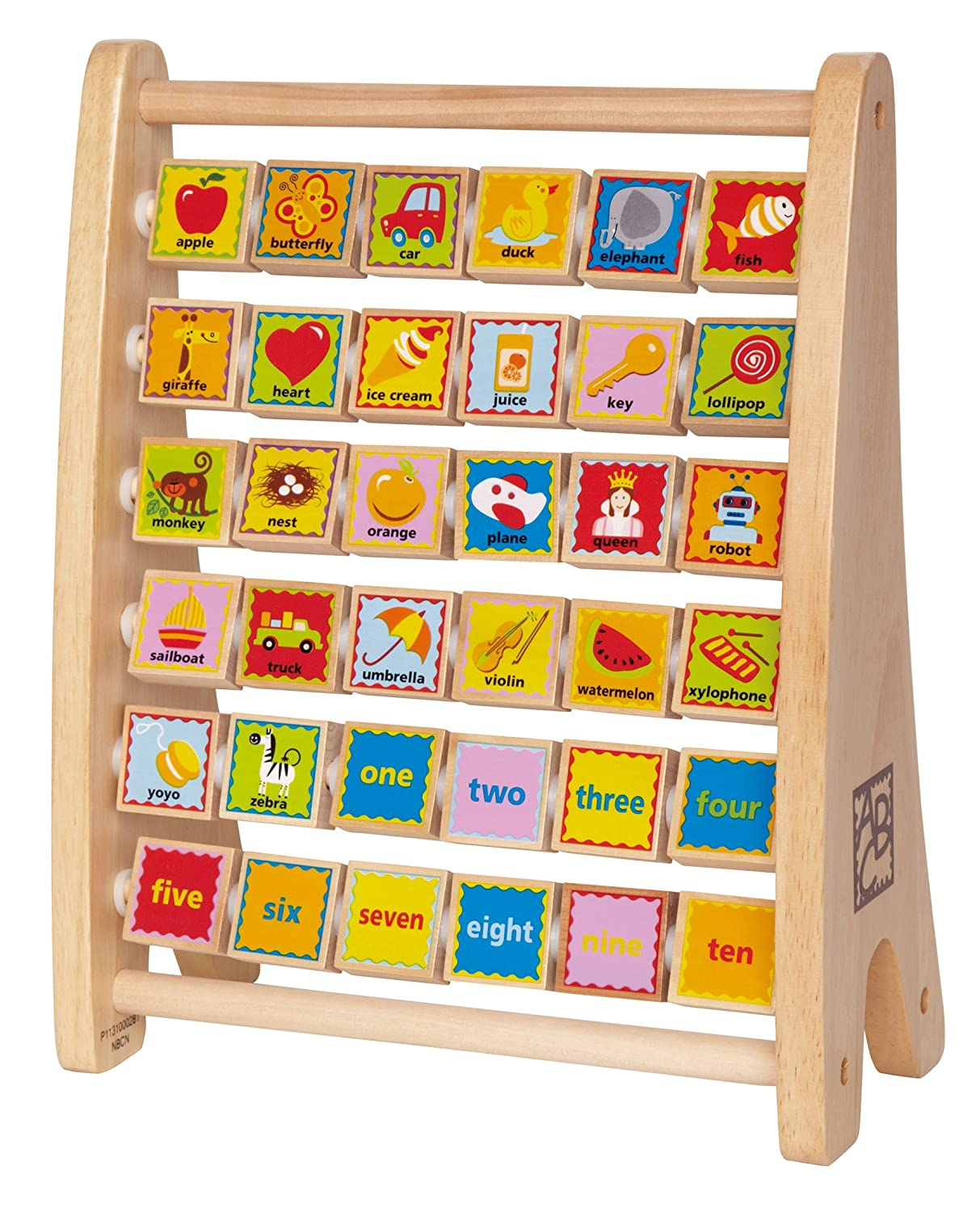 Amazon.com: Hape Alphabet Abacus: Toys & Games