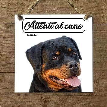 rottweiler Mod 3 cuidado con el Perro matrícula azulejo ...
