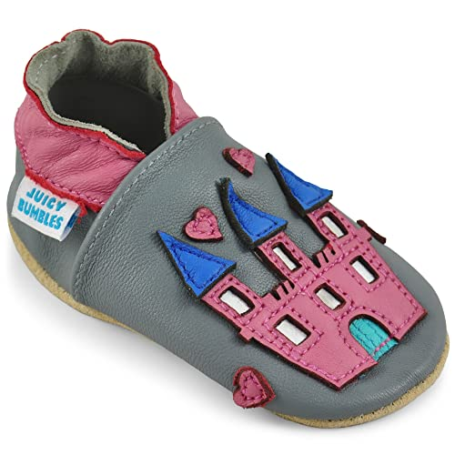 Zapatos Bebe Niña – Zapatillas Niña Patucos de Cuero Primeros Pasos - Castillo de Princesa 0