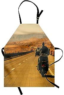 Motorcycle Free Rider biker man kitchen apron Harley D style BBQ one size ITATI
