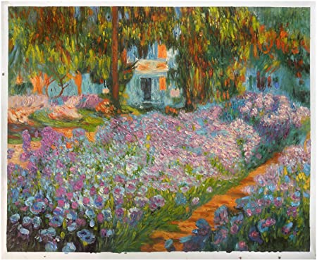 8 Hand Painted Claude Monet Flowers Art Paintings Oil on Canvas as Wall Decor /& Gift Irises Impressionism floral garden impressionism