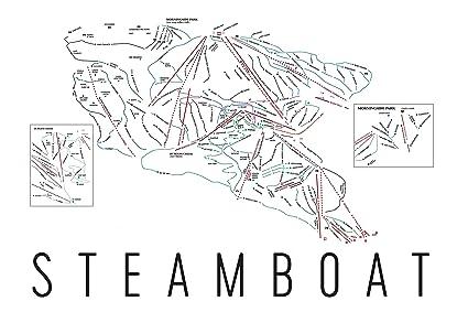 Amazon.com: Steamboat Poster, Steamboat Ski Resort Poster, Steamboat ...