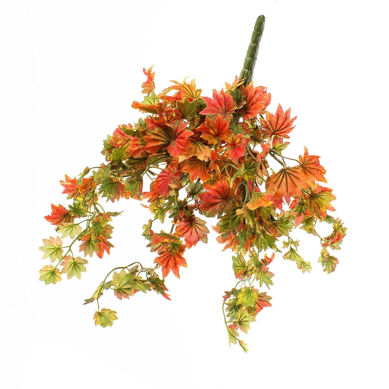 Buisson de feuilles d'automne artificielles, rouge-vert, 35 cm - Feuillage artificiel / Décoration automne - artplants