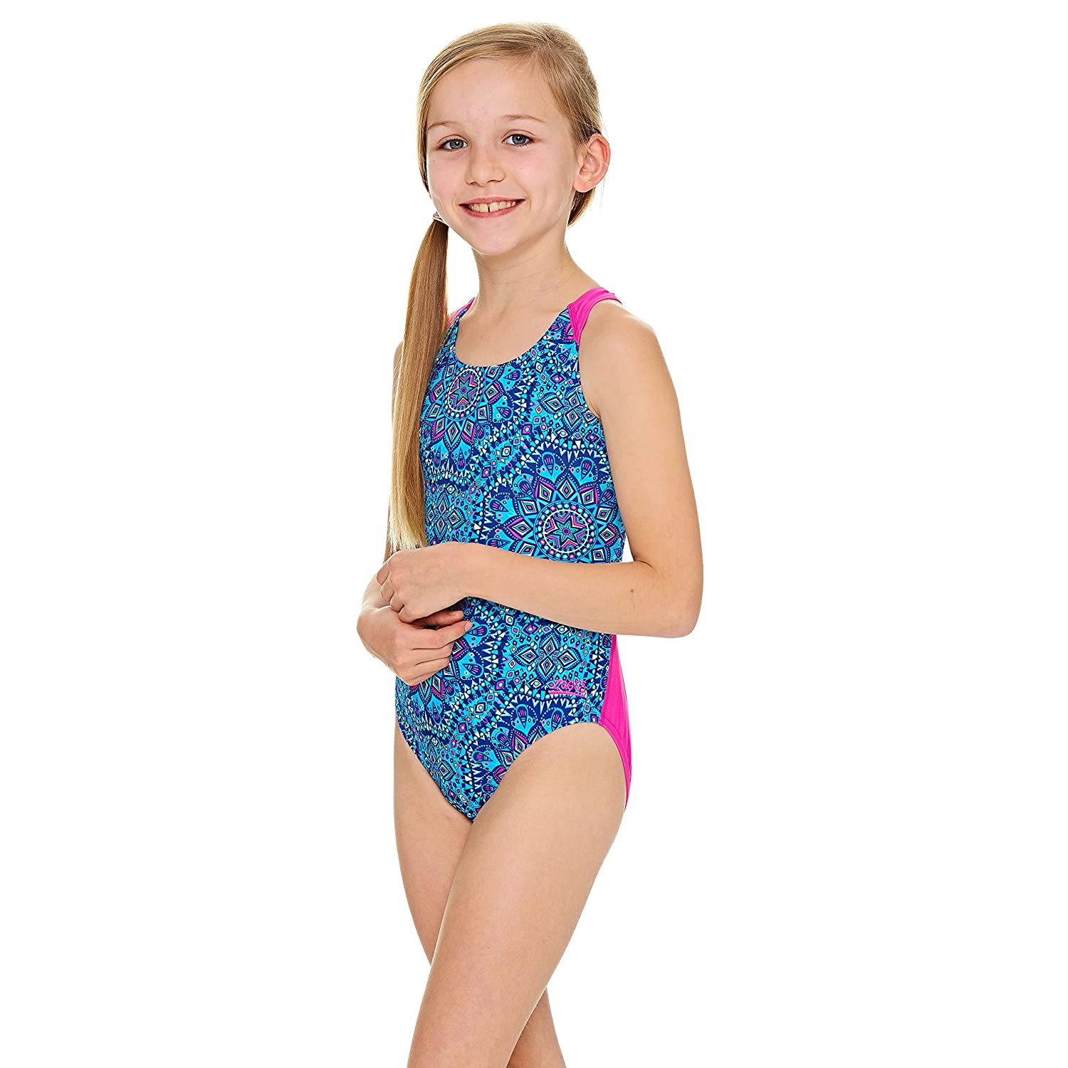 Zoggs Girls Native Spirit Flyback Swimsuit