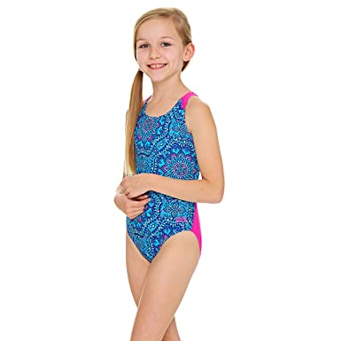 2fc7de41e6a Zoggs Girls' Native Spirit Flyback Swimsuit: Amazon.co.uk: Clothing