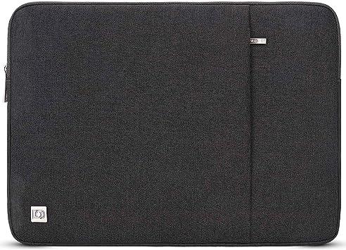 DOMISO 17 pulgadas portátil manga resistente al agua Notebook Tablet funda protectora llevar bolsa bolsa de la piel de la computadora para Lenovo / Acer / ASUS / HP / ASUS,Gris oscuro: Amazon.es: Electrónica