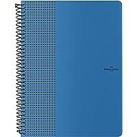 Caderno Grip Pautado 80 Folhas Azul Chuva, Faber-Castell, CDNOFF/AZ, Mista
