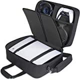 USA GEAR PS5 Case - Console Case Compatible with Playstation 5 and PS5 Digital Edition with Customizable Interior for Playsta