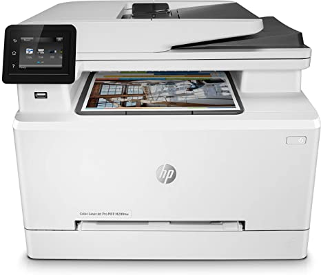 HP Color Laserjet Pro MFP M280nw - Impresora láser multifunción (Fax, copiar, escanear, Imprimir en Color, 21 ppm), Color Blanco
