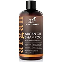 ArtNaturals Argan-Oil Shampoo for Hair-Regrowth - (16 Fl Oz/473ml) - Sulfate Free - Treatment for Hair Loss, Thinning & Regrowth - Growth Product For Men & Women - Infused with Biotin