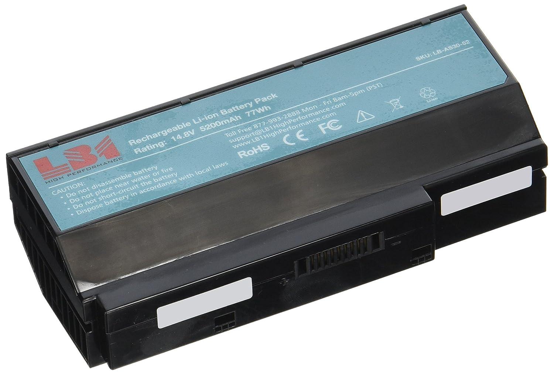LB1 de alto rendimiento batería para ordenador portátil ASUS G73SW batería serie - 14,8 V 8 cells 5200 mAh - Ordenador portátil PC portátil para ASUS 07 ...