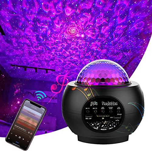 Star Sky Projector Galaxy Projector for Bedroom Night Light with Bluetooth Speaker 1-14 Year Old Girl and Boy Disco Ball Lights-Black