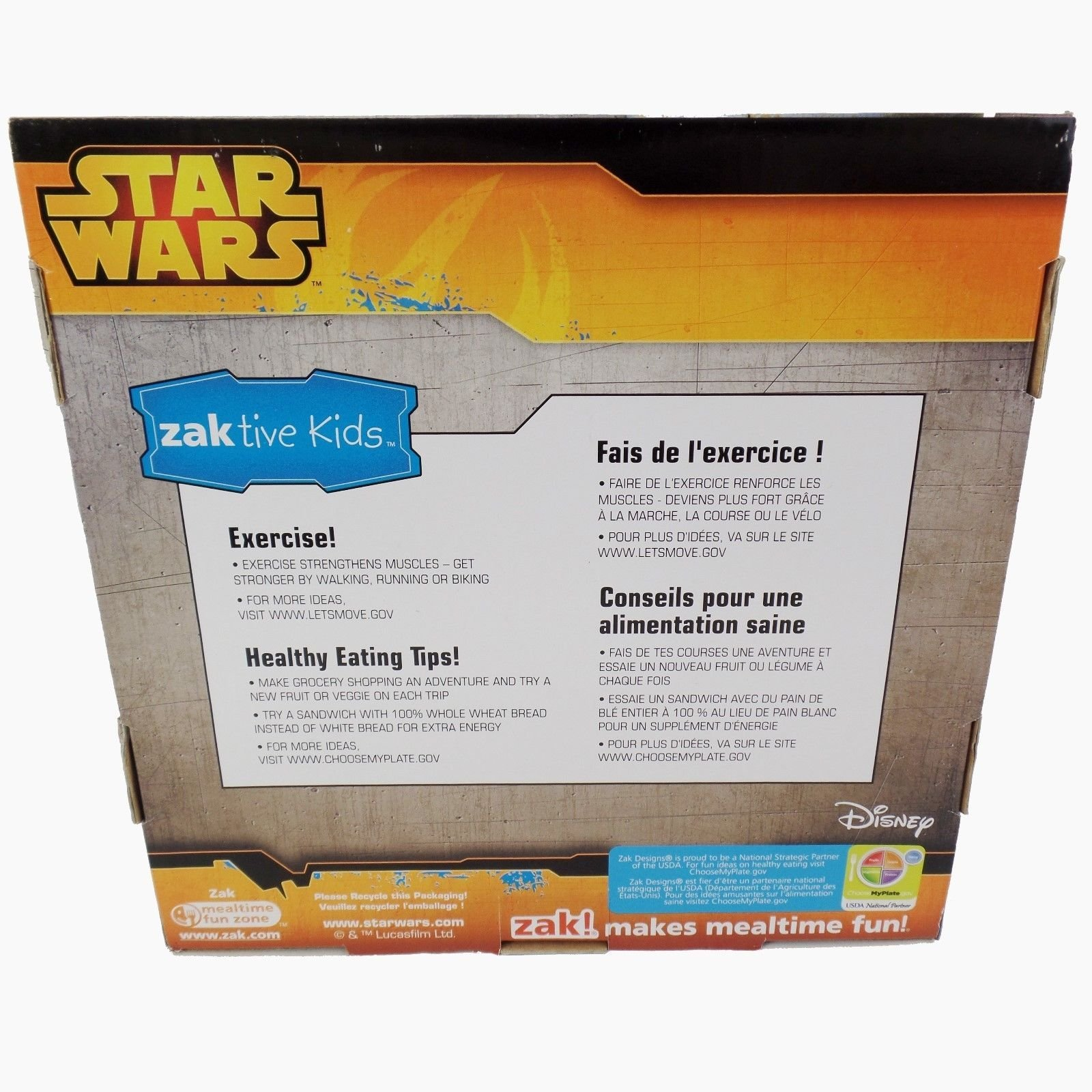Zak! Designs 3-piece Mealtime Set includes Plate, Bowl and Tumbler with Star Wars The Force Awakens Graphics