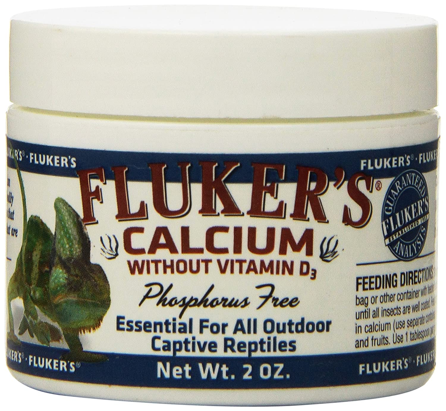 Fluker Labs SFK73015 Reptile Calcium Supplement without Vitamin D3, 2-Ounce by Fluker Labs B0029UCPXE