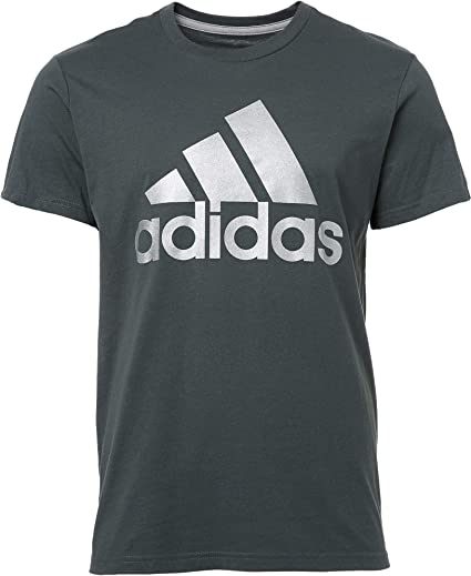 Black New Men/'s Adidas Performance Logo T-Shirt Top