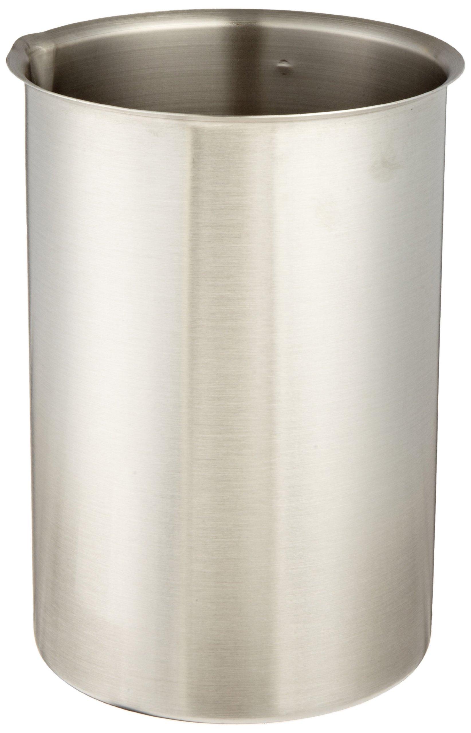 Polar Ware 4000B Stainless Steel Griffin Style Beaker, 4000 mL Capacity, 6-1/8'' OD x 8-7/8'' H