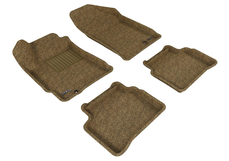 L1NS06202202 Tan Classic Carpet 3D MAXpider Complete Set Custom Fit Floor Mat for Select Nissan Altima Models