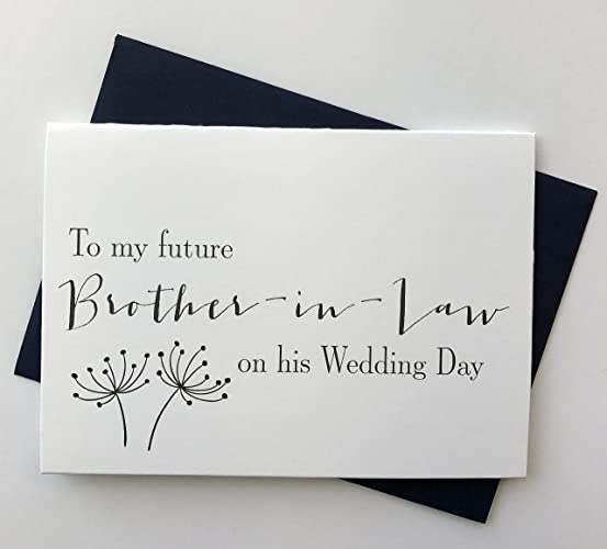 Amazon com: To My Future Brother-In-Law on His Wedding Day, Wedding