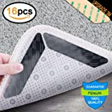 Billie Country Anti Curling Rug Gripper 16 pcs. Anti Slip Straight Carpet Gripper for Corners and Edges - Anti Slip Rug Pad for Rugs