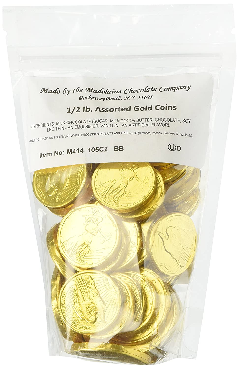 Amazon.com : Assorted Liberty Gold Coins Solid Milk Chocolate (1/2 ...
