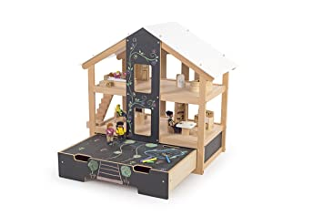 Good Tidlo Wooden Furnished Open Plan Dolls House