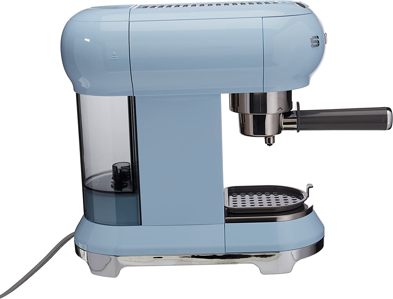 Pastel Blue Smeg ECF01PBUS Espresso Machine