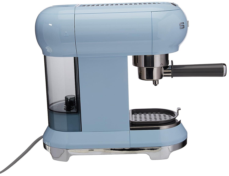 SMEG ECF01PBEU Máquina de Café Expreso, 1300 W, Acero ...