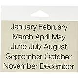 SRM Stickers Calendar Months, Small Sleek