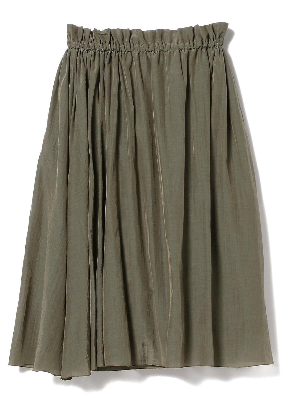 (デミルクス ビームス) Demi-Luxe BEAMS スカート ライトローン ギャザースカート レディース B07CV2DR6W One Size カーキ カーキ One Size