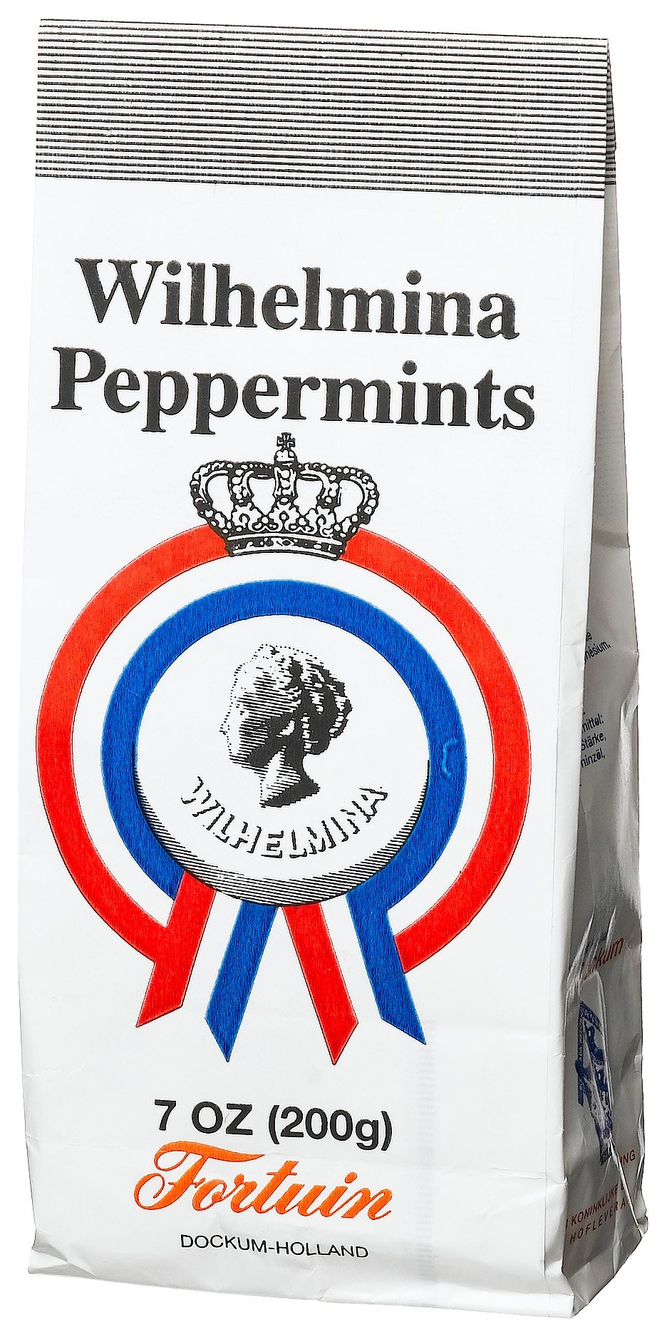 Fortuin Wilhelmina Peppermints, 7-Ounce Bags (Pack of 12) by Fortuin
