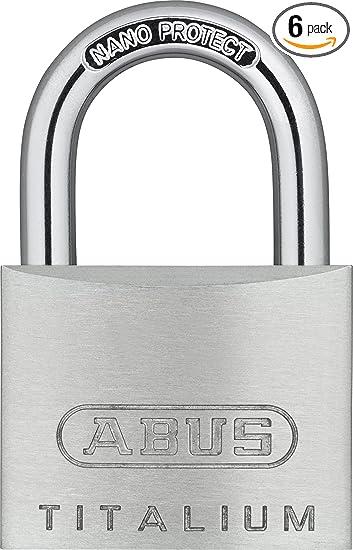 ABUS 64TI//40mm Titalium Padlock 40mm Long Shackle Carded ABU64TI4040C