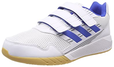 adidas Unisex-Kinder AltaRun K Gymnastikschuhe, Mehrfarbig (FTWR White/Blue/Mid Grey S14), 36 EU