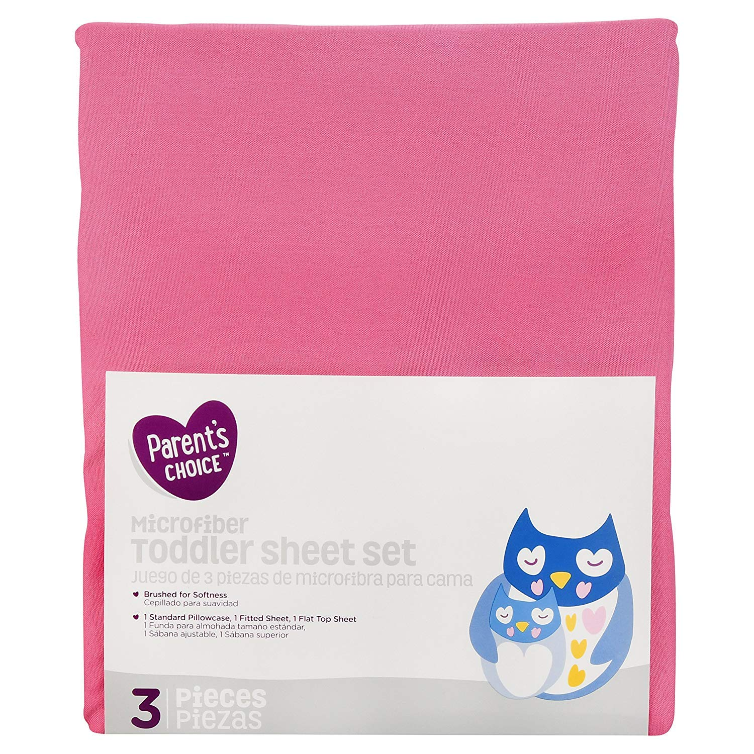 Parent's Choice Toddler Sheet Set, Pink , 3 Piece - Girl
