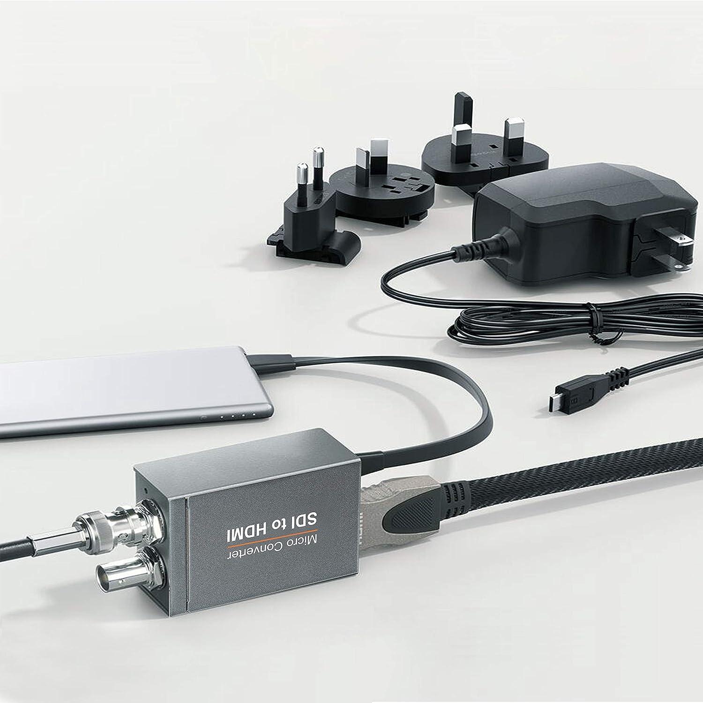 with Power Supply ,3G-SDI//HD-SDI//SD-SDI to HDMI Converter Adapter,SDI in HDMI out SDI Loopout,1080P Video Audio Splitter,Support HDCP 1.3 for Camcorder Camera to TV FERRISA Micro Converter SDI to HDMI