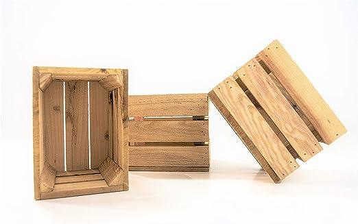 DECORANDO CON SAM 3 Cajas de Madera, 20x15x16,5cm Caja Natural ...